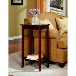 tall end table wood coffee furniture stand