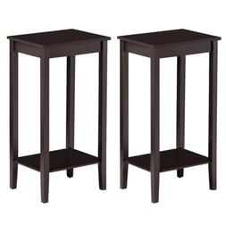 Set of 2 Tall End Table Sofa Chair Side Accent Stand Coffee