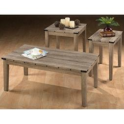 Jofran Taos 3 Piece Coffee Table Set in Oak