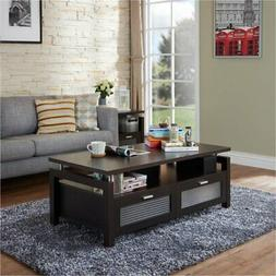 Furniture of America Tayler Storage Coffee Table in Espresso