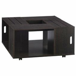 Furniture of America Tessa Square Coffee Table in Espresso