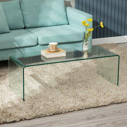 Thicken Coffee Table Clear Tempered Glass Tea Table Living R