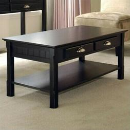 Winsome Timber 2 Piece Coffee and End Table Set in Black Bee