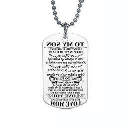 To My Son / To My Daughter Dog Tag Necklace Hip-hop Chain St