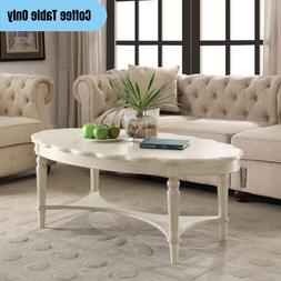 Traditional Oval Coffee Table French Country Cottage Style A