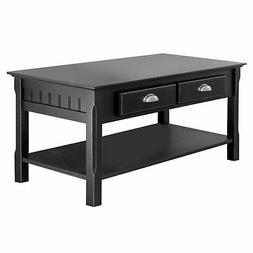 Winsome Wood Transitional Black Composite Wood Coffee Table
