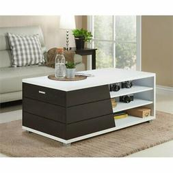 Furniture of America Traver Modern Coffee Table in White and