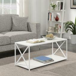 tucson rectangle coffee table white