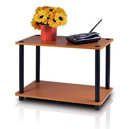 Furinno Turn-n-Tube 2-Tier No-Tools Tube Shelf/End Table