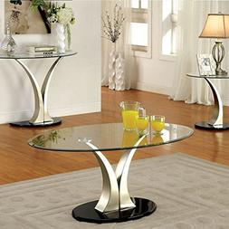247SHOPATHOME IDF-4727C Coffee-Tables, Chrome