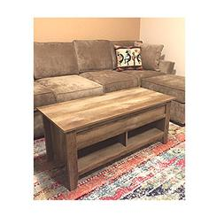 Vintage Coffee Table with Storage Industrial Big Farmhouse S