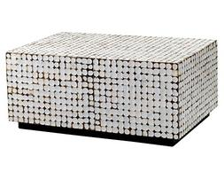 East at Main Wilkenson White Coconut Shell Inlay Rectangle C