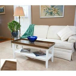 Convenience Concepts Driftwood Ledgewood Coffee Table in Whi