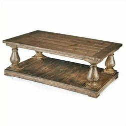 Beaumont Lane Wood Coffee Table in Natural Pine