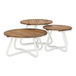 Safavieh Henderson 3-Piece Wood Top Coffee Table Set