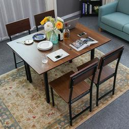 Wood Square Folding Table Hairpin Leg Dining Coffee Table Ho