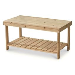 Wooden Coffee Table Solid Chinese Fir Wood Water Resistant E