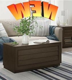 Wooden Coffee Table With A Dark Brown Color Great For Living