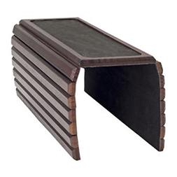 Graystone Wooden Sofa Arm Tray Table With Rubber Surface For