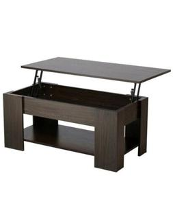 Yaheetech Adjustable Lift Top Coffee Table - with Hidden Sto