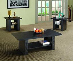 Youngtown Three Piece Occasional Table Set in Matte Black